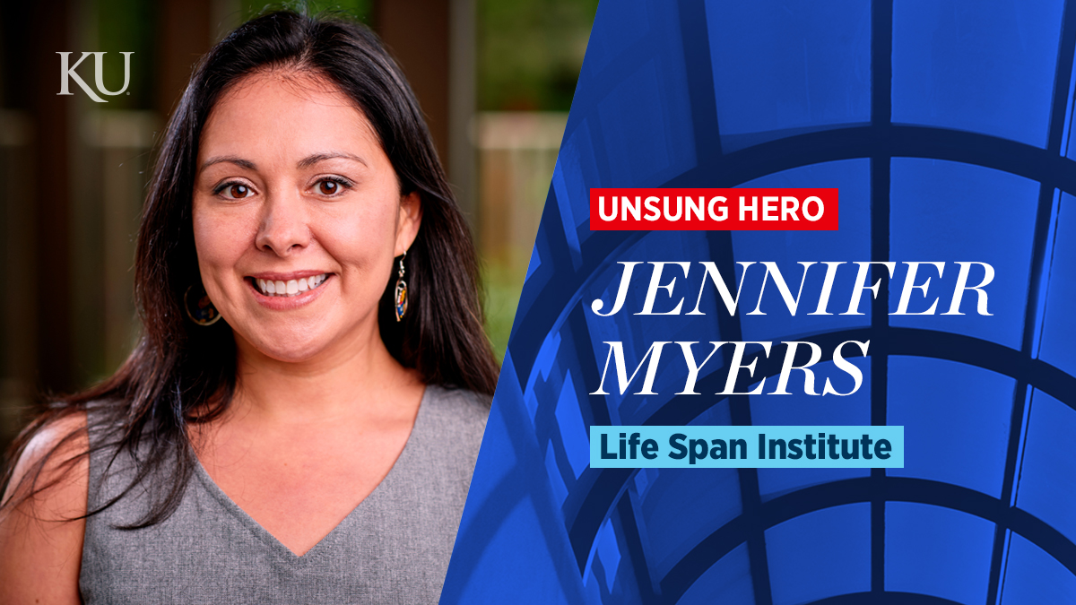 Jennifer Myers, January 2020 Unsung Hero of KU Research